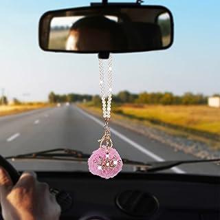 OIIKI 闪亮汽车配件,水晶水钻皇冠悬挂饰品,汽车内饰后视镜装饰,幸运悬挂内饰装饰吊坠,适合女士女孩