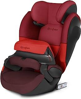 Cybex Silver Pallas M-Fix SL,二合一儿童汽车座椅,可调节冲击*防护罩和 ISOFIX 兼容,1/2/3 组(9-36 千克),约 9 个月至约 12 岁,伦巴红