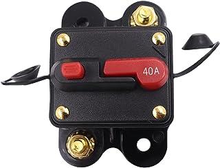 NINEFOX 手动复位断路器手动复位保险丝汽车船舶电机音频内联保险丝防水保护电气设备多种电流选择断路器 (40A)
