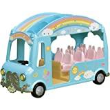 Calico Critters 公仔的阳光幼儿园巴士,玩具车可容纳多达12个可收藏人物