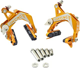 KCNC CB9 公路卡钳制动器套装(前后)专为公路自行车宽轮缘设计,金色,SK2427