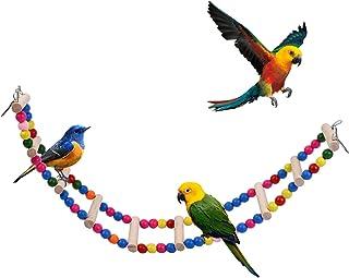 EndearingTails 10 梯子鸟梯桥,秋千/攀登玩具,适用于长尾鹦鹉,鹦鹉,鹦鹉,挂笼配件