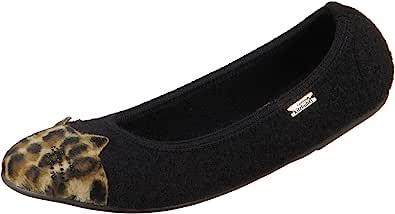 Living Kitzbühel 女孩芭蕾舞鞋带猫脸家居鞋