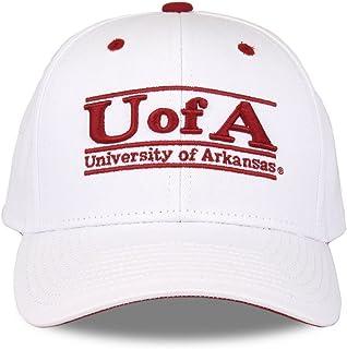 Arkansas Razorbacks 成人游戏杆可调节帽子 - 白色,