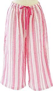 条纹牧人裤 女士 绉纱布 粉色 Large RBS95321 L P