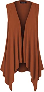 MBJ 女式轻质无袖纯色/扎染前开襟褶背心开衫 S-XXXL 加大码