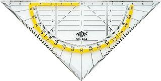 Wedo 525 几何三角形 16 厘米 塑料 斜边 刻面 墨垫 透明