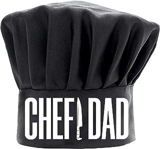 男士厨师帽趣味黑色,厨师爸爸烹饪帽,可调节厨房厨师帽,适合爸爸的生日父亲节圣诞节礼物