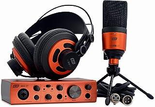 U22XT cosMik Set 录音・发布套装 (U22 XT 音频接口/cosMik 10 电容麦克风 电子耳机/eXtra 10 监听耳机)