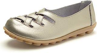 VenusCelia 女士舒适步行休闲平底乐福鞋