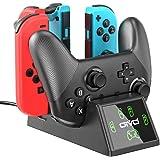 Switch Joy-Con 控制器充电器和 Pro 控制器充电底座,适用于 Nintendo Switch 的 OIV…