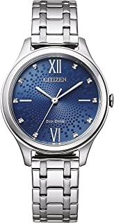 CITIZEN 西铁城 女士指针式光动能手表 不锈钢表带 EM0500-73L