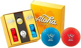 Volvik Vivid 高尔夫球州立版礼品包 - 6 个球标和磁帽夹