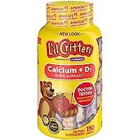 L'il Critters 小熊糖 含维生素D 有趣的旋转口味,150支,2包