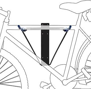 Relaxdays 自行车支架 适用于2 辆自行车 用于挂壁安装的自行车支架 *大承重 50 千克 高宽深为43.5x34x67 厘米 黑色/蓝色
