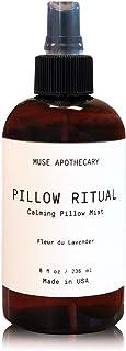 Muse Bath Apothecary 抱枕 Ritual - 芳香舒缓枕雾,8 盎司,含天然精油 1-包每包 1 条 MB118