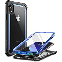 iPhone XR 手机壳,i-Blason [Ares] 全机身坚固透明防撞保护套带内置屏幕保护膜,适用于 Apple…