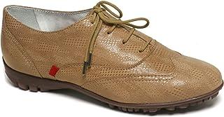 MARC JOSEPH NEW YORK 女士皮革巴西制造羊皮带翼尖细节高尔夫鞋
