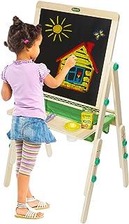 Crayola 豪华儿童木制画架和用品,亚马逊儿童适用,年龄 3,4,5,6