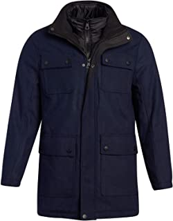 URBAN REPUBLIC 男式冬季夹克 - 羊毛混纺大衣,带绗缝内兜