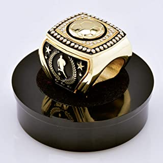 Express Medals 史诗足球*杯环,带展示支架和颈链