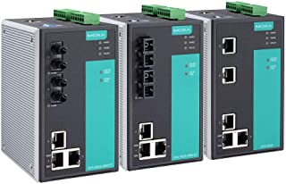 MOXA 产业用5个端口(100 BaseFX多模式端口×2)高级总线管理多路插座开关 SC连接器 宽温度款 EDS-505A-MM-SC-T