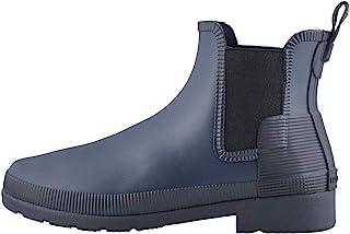 HUNTER Boot 女式原创精致纹理切尔西雨靴 *蓝