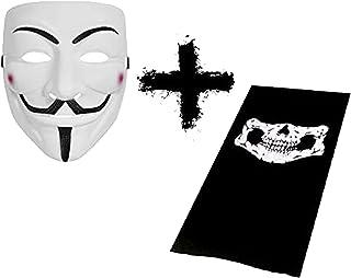 OXY Shoppe 2 件套面罩套装骷髅绑腿小工具加黑客匿名面具与 PZ9 Project Zorgo 面罩相比