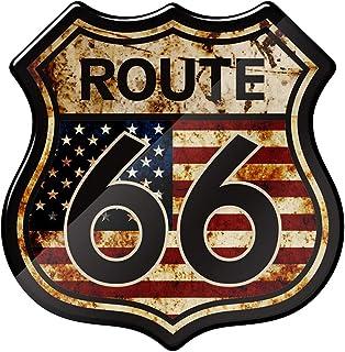3D 树脂摩托车贴纸美国历史路线 66 张贴纸适合 Harley Touring Electra Glide Ultra Road King
