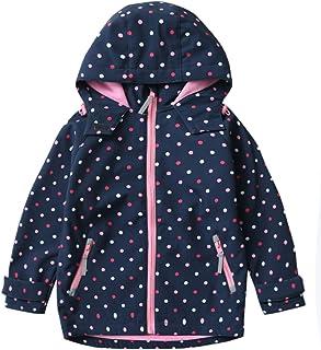 M2C 女孩連帽羊毛內襯軟殼夾克防風外套