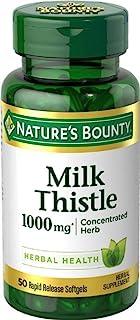 Nature's Bounty 牛奶蓟 1000 毫克,50 粒软胶囊(3 瓶装)