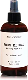Muse Bath Apothecary Room Ritual - 芳香和放松房间喷雾,8 盎司,加入天然精油 Aloe + Eucalyptus + Lavender 1-包每包 1 条