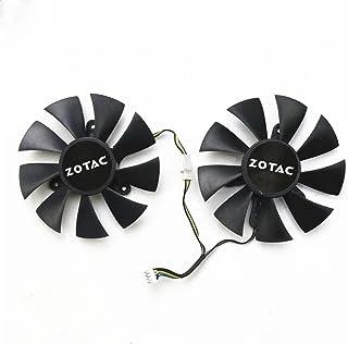Bestparts 新款显卡散热风扇适用于 ZOTAC GTX 960 1060 1070TI 1080Ti Mini AMP 85mm 4pin