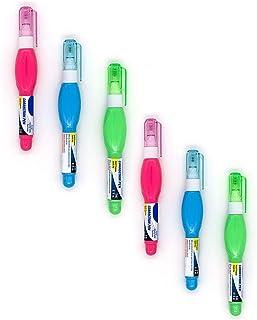 Emraw 3ml 修正液笔 多功能金属笔尖 – 适用于办公室、学校和家庭等(6 支装)