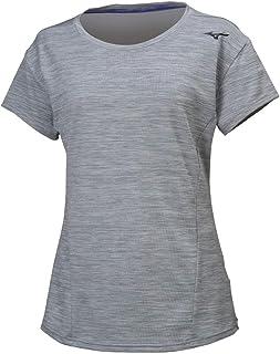 [美津浓(Mizuno)]运动服 T恤 半袖 吸汗速干 苗条 32MA9311 女士 *-黄麻 日本 XL (相当于日本码XL)