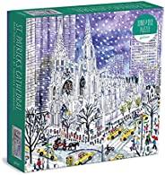 "Michael Storrings 圣帕特里克节大教堂拼图,1000 片,27"" x 20""(约 68.6 x 50.8 厘米) – 有一定的难度,令人惊叹的艺术品 – 厚实、坚固的拼块、具有挑战性的家庭活动"
