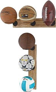Wallniture Palla Ball 储物壁挂式展示架 适用于男士洞穴 3段式墙架 2件套 适用于篮球、足球、足球、排球和运动纪念品