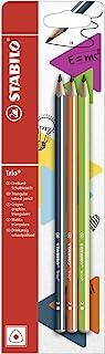 STABILO Trio 2B 石墨铅笔 - 蓝色(3 件装)-P Petrol/Orange/Green