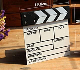 zmgmsmh 木制拍板导演电影剪切动作场景板夹板板板板板板板(小号-白色)