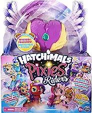Hatchimal Pixies Riders - Lilac Luna Pixie 和 Swanling Glider 套装,神秘特色