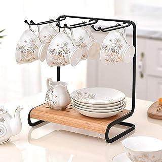 酒杯架 家庭台面存储 金属高脚杯 储物架 6 杯容量