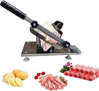 Towiac 手动肉切片机 不锈钢冷冻牛肉切片机 家用热锅 Shabu Shabu