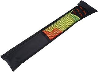 Yosoo Health Gear 2 件套防水布足球线条人旗帜纯红色和黄色不锈钢金属杆泡沫球手柄