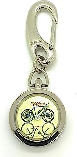 Bicycle Bike 银色钥匙扣钥匙扣夹式手表