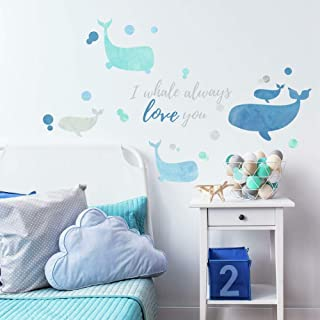 RoomMates I Whale Always Love You 即剥即贴巨大墙贴