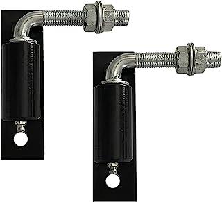 钢 J-Bolt 铰链门门门 1/2 英寸重型焊接铰链重型车道门,用于焊接较大的铁或钢门,2 包