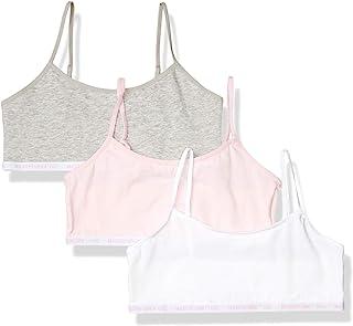 Maidenform 女童 Logo Band 棉质露脐训练文胸,3 件装