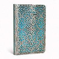 paperblanks  龐博精裝本  〈 愛爾蘭 古銀窗花系列筆記本迷你古銀薄款(藍色) MINI 〉