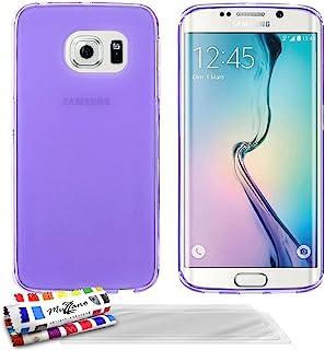MUZZANO 原创 Le Glossy Hybrid 柔性外壳 适用于三星 Galaxy S6 EDGE - 灰色