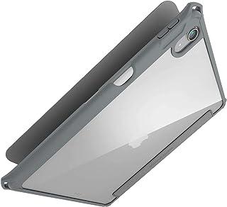 Elecom宜丽客 iPad Air 10.9英寸(*4代 2020年款) 皮革壳 手册式 ZEROSHOCK 支持休眠 背面透明 灰色 TB-A20MZEROGY